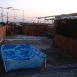 Host family's rooftop