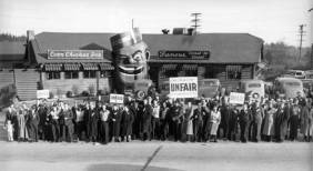 labor protest of the restaurant NOT about the racial element