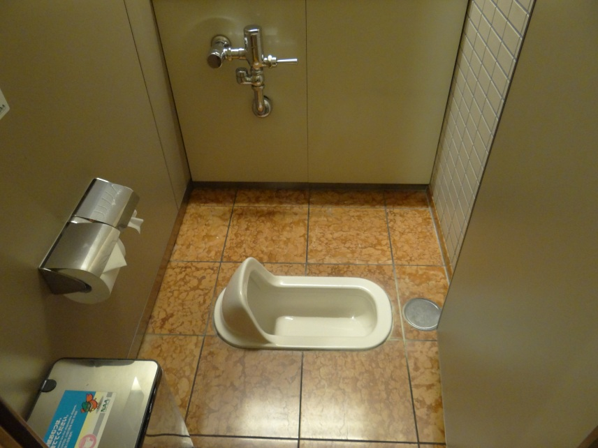the first toilet we came across
