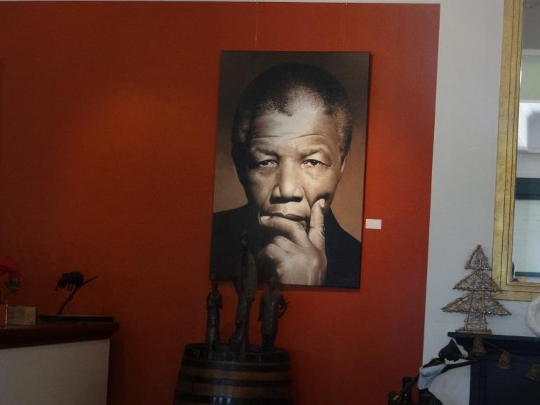 Mandela painting in tasting room