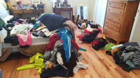 All my clothes on the floor