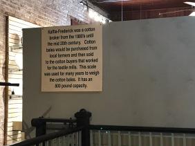 Historic memorabilia signage